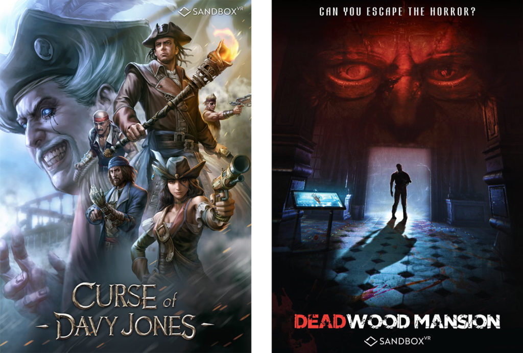 Sandbox VR Titles - Davy Jones and Deadwood Mansion