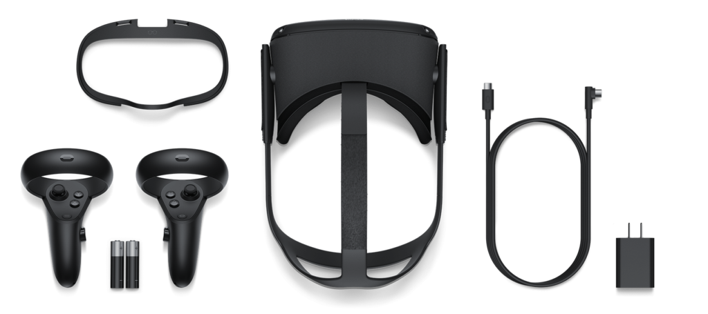 Contents of Oculus Quest packaging